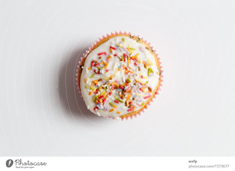 Muffins in detail as a clipping area Cake Dessert Decoration Bright Near Cupcake Background picture Icing Ornate Coulored sugar candy Granules baking decor