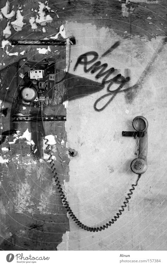 Ring Ring! Telephone Old Bicycle bell Broken Receiver Cable Gadget Derelict Transience