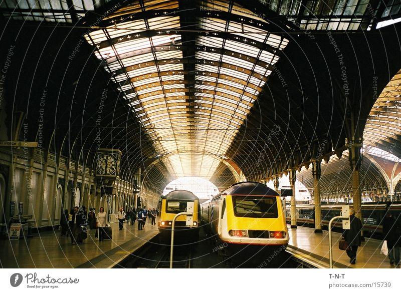 Paddington Station Railroad Engines Platform London Europe England Great Britain Transport Train station Fog railway terminus Warehouse Industrial Photography