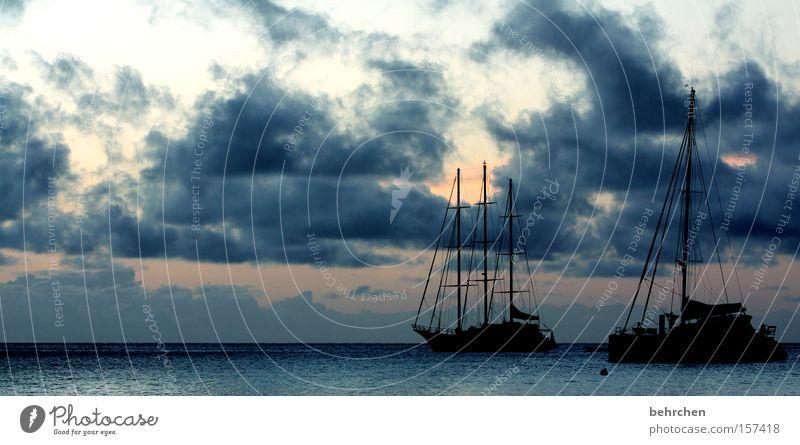 drift Seychelles Dream island Ocean Clouds Sunset Sky Watercraft Sailing To enjoy Wanderlust Freedom Honeymoon Beach Coast Vacation & Travel