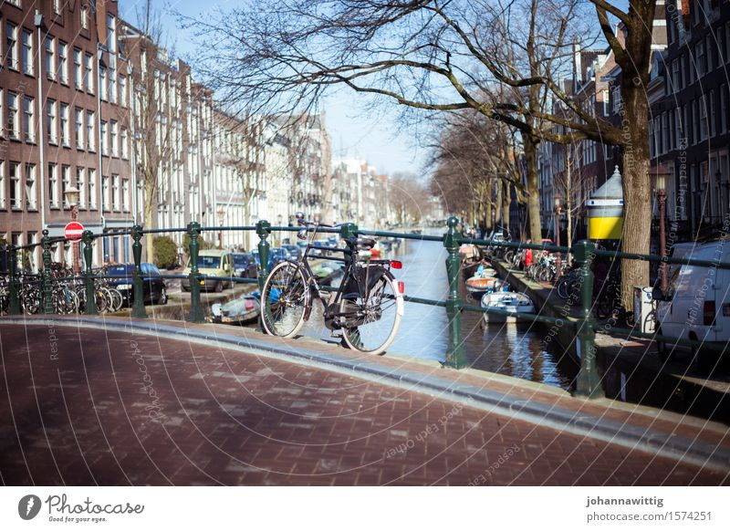 Amsterdam Vacation & Travel Tourism Trip Adventure Freedom Sightseeing City trip Summer Discover Relaxation Infinity Blue Calm Esthetic Bicycle Cycling Bridge