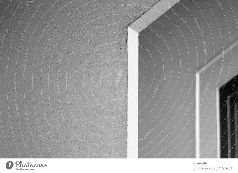 Snap off House (Residential Structure) Carrier Column Bend Carrying Graphic Architecture Line Concrete Detail Black & white photo