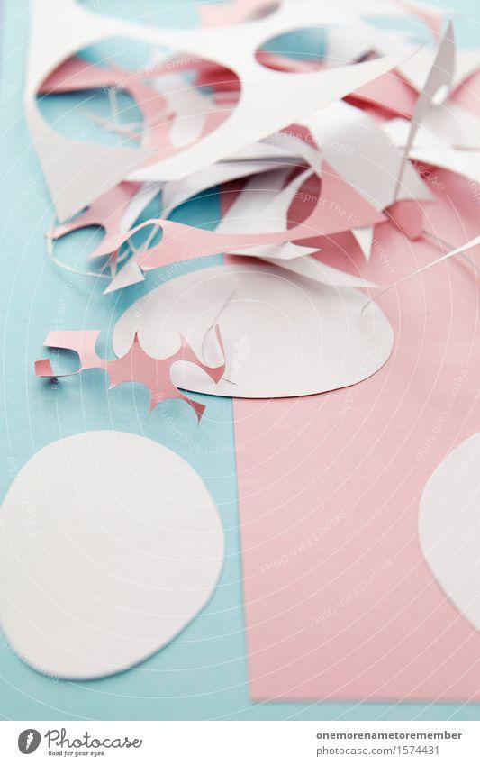 Blue Art Pink Decoration Esthetic Easter Kitsch Trash Handicraft Work of art Handcrafts Lessons Childish