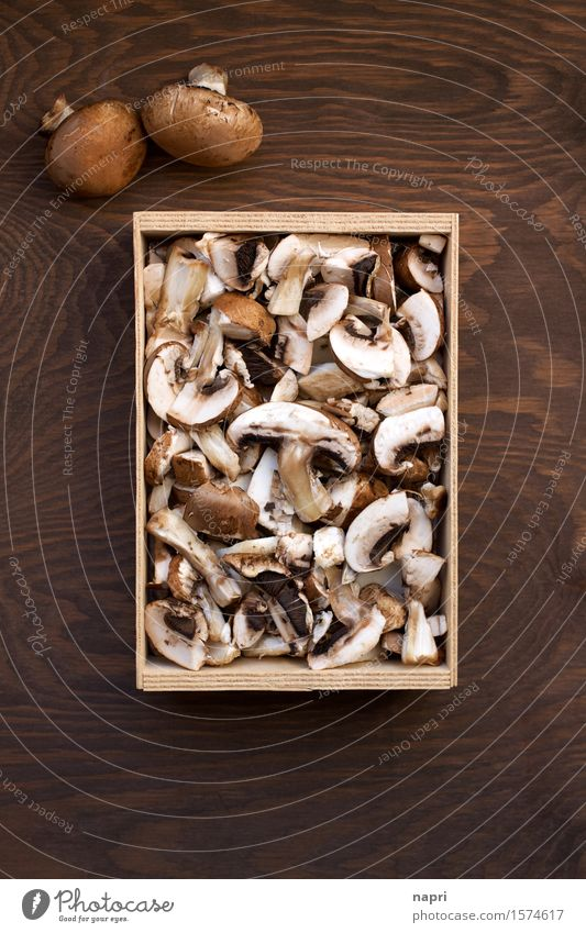 jeschnibbelte mushrooms II Food Button mushroom Nutrition Organic produce Vegetarian diet Vegan diet Healthy Cheap Delicious Natural Brown To enjoy Autumnal Cut