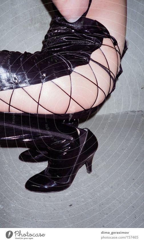 Legs 1 Black Leather Gray Pain Woman Attractive Interesting Beautiful Interior shot