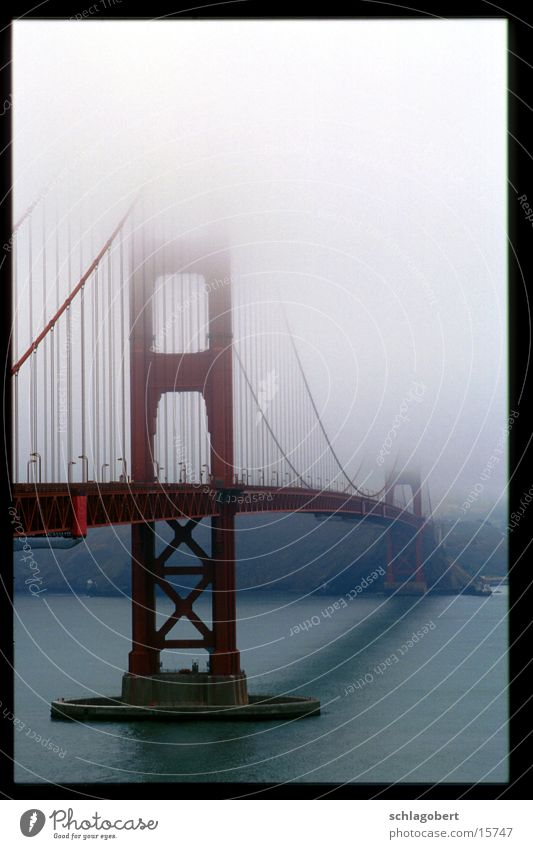 Water Fog Bridge New York City San Francisco Golden Gate Bridge