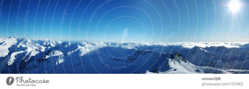 Vacation & Travel Winter Mountain Horizon Large Success Future Alps Vantage point Peak Science & Research Swiss Alps Austrian Alps Italian Alps German Alps