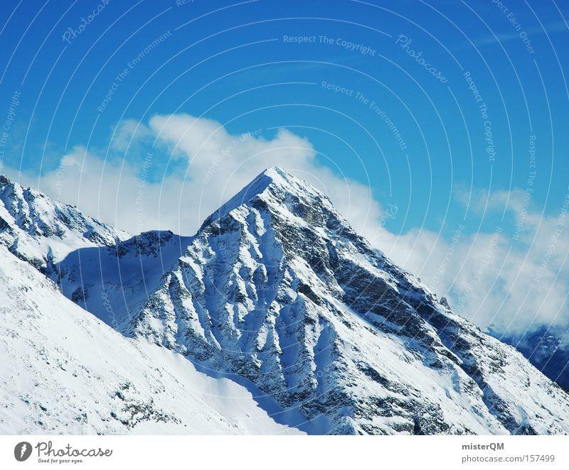 Hello, Mr. Paramount. Mountain Peak Tall Vantage point Winter Blue Sky Vacation & Travel Nature Trip Target Travel photography Austria Alps Austrian Alps
