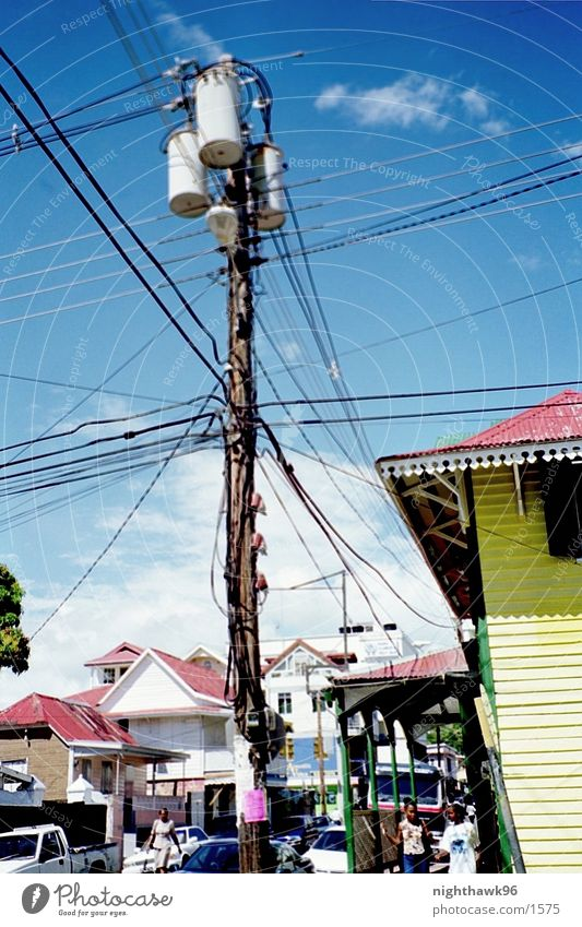 Communication 01 House (Residential Structure) Electricity pylon Transmission lines Cuba
