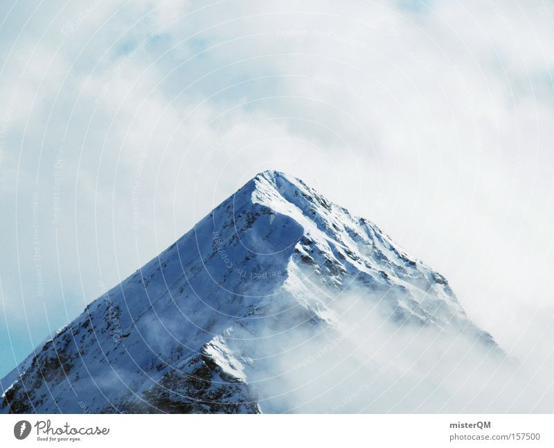 Sky Nature Blue Vacation & Travel Winter Mountain Tall Trip Target Alps Vantage point Peak Science & Research Austria