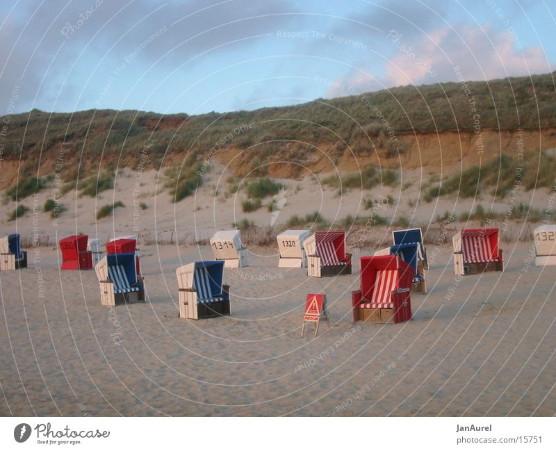 Beach chair paradise Sylt Ocean Vacation & Travel Europe North Sea