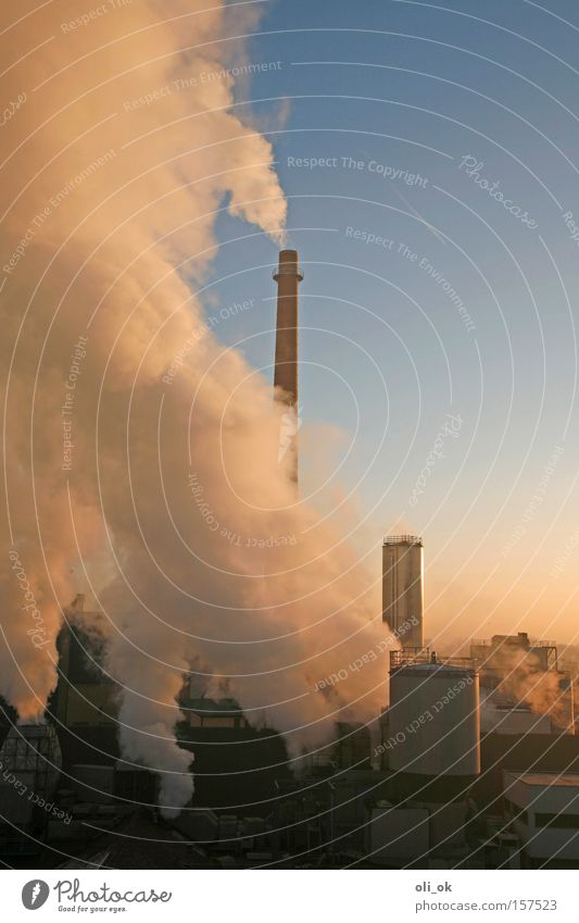 exhaust Climate change Ozone layer Carbon dioxide Industry Factory Chimney Exhaust gas Smog Environmental pollution Ecological haze dome Industrial Photography