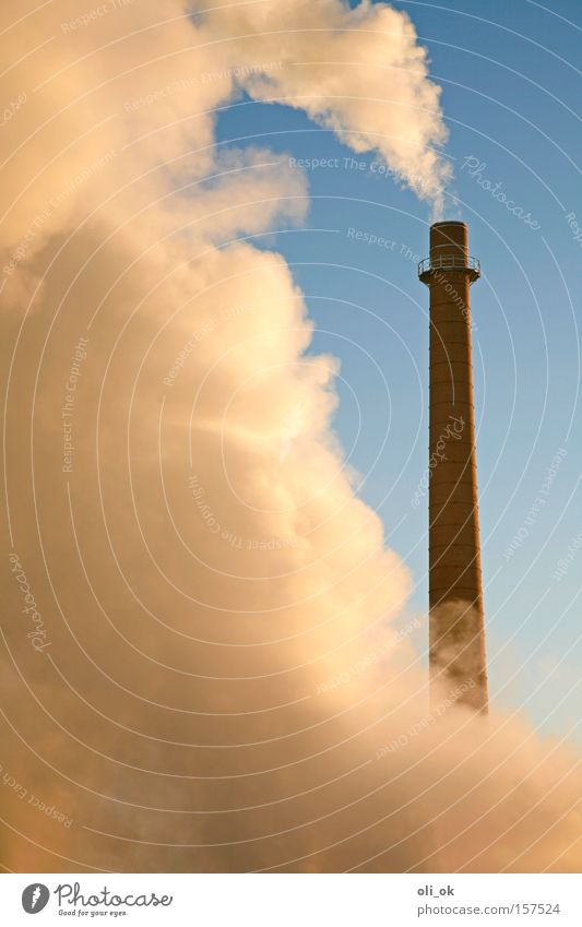 Winter Environment Tall Climate Industry Round Industrial Photography Many Factory Cloudless sky Ecological Exhaust gas Chimney Climate change