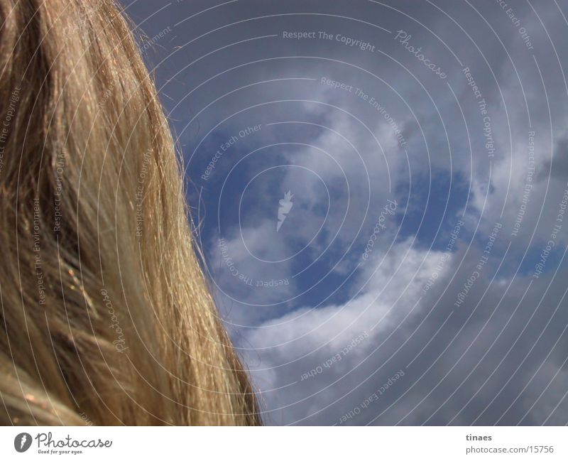 Woman Sky Blue Clouds Hair and hairstyles Blonde