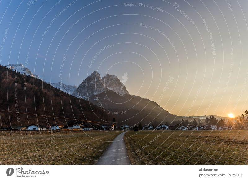 Landscape Calm Mountain Spring Alps Serene Cloudless sky Caution
