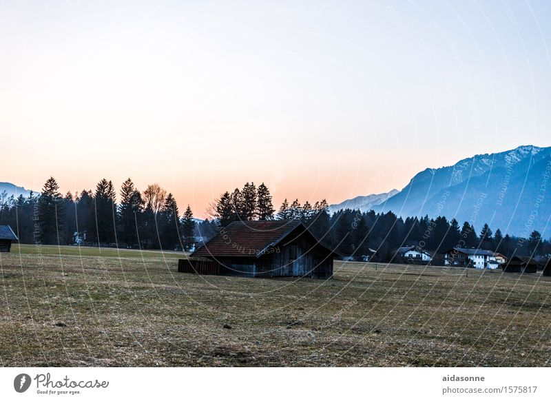 Relaxation Landscape Calm Forest Mountain Spring Contentment Field Europe Alps Serene Bavaria Town Peaceful Detached house