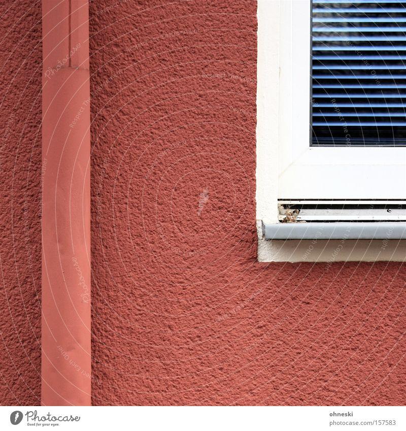 Blue Red Colour Window Rain Line Painter Paintwork Roller blind
