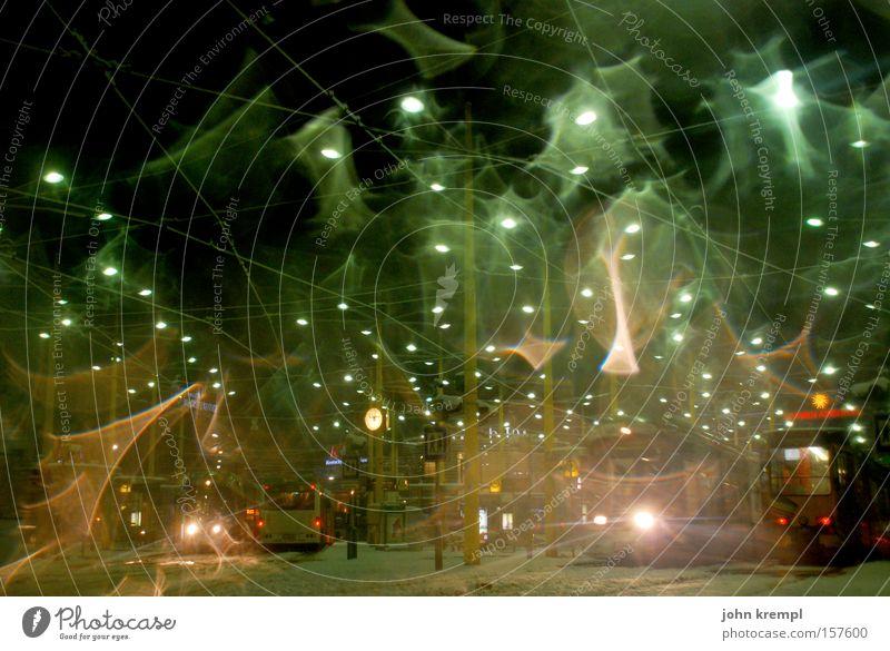 City Winter Lamp Snow Lighting Traffic infrastructure Capital city Snowflake Graz Austria Jakominiplatz