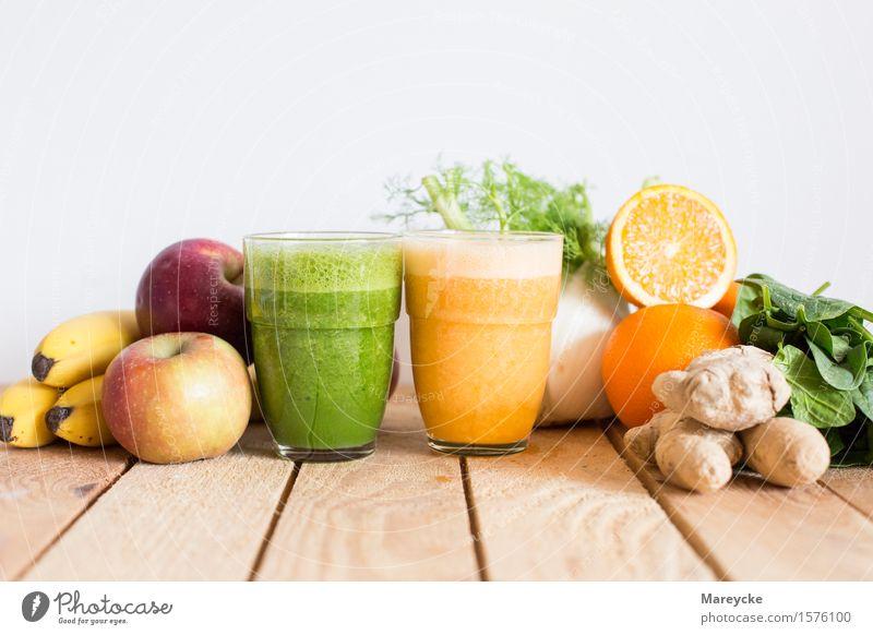 smoothies Vegetable Fruit Organic produce Vegetarian diet Diet Fasting Beverage Juice Lifestyle Beautiful Wellness Cure To enjoy Good Green Orange salubriously