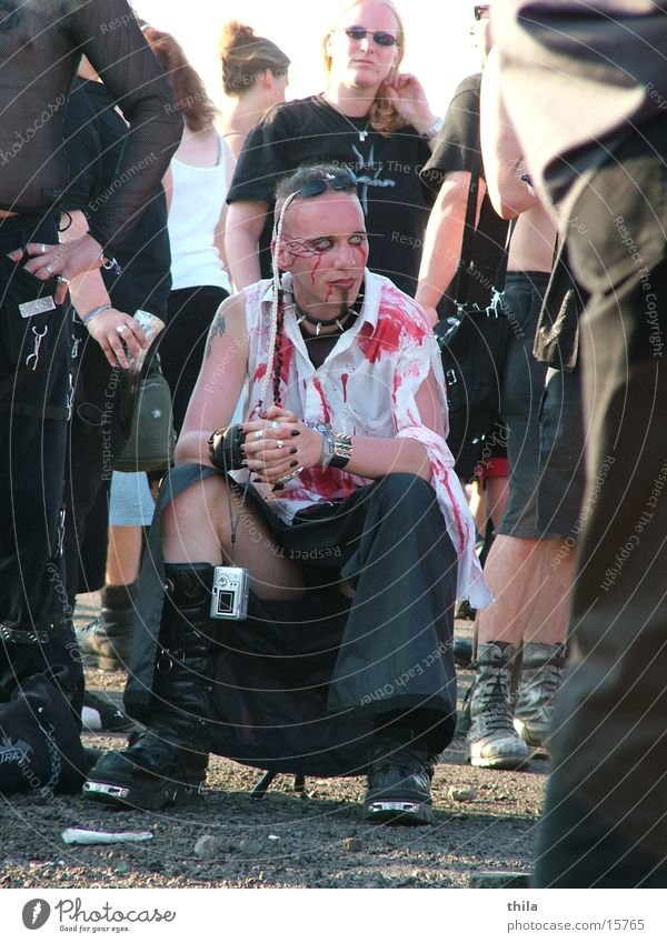rest Hildesheim Break Man Shirt Freak M'era Luna Music festival Blood Cool (slang) Old fogey