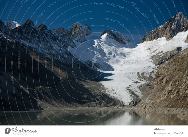 Mountain Hill Peak Glacier Mountain range Mountain ridge Canton Wallis Reservoir Grimsel pass