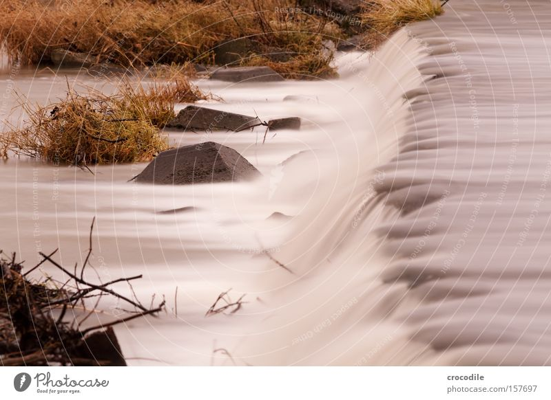waterfall ll Water Waterfall Long exposure Cold River Brook Stone Rock Corner Bushes Growth Winter Peace
