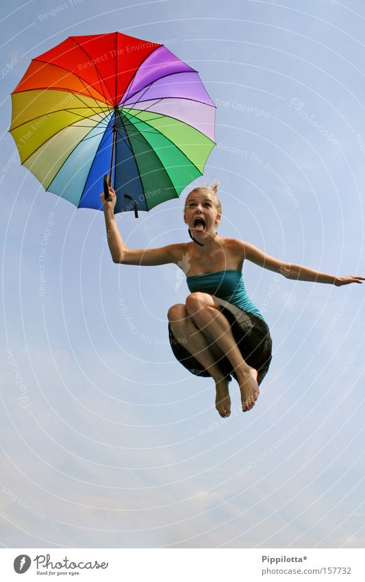 Joy Jump Crazy Multicoloured Umbrella Scream Tongue