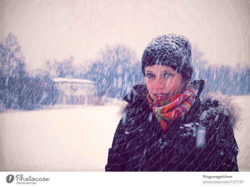 regina della neve Snowfall Scarf Violet Cap Cold Winter Blue Youth (Young adults) cappenberg lunen