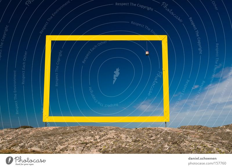 Nature Beautiful Sky Blue Yellow Weather Horizon Frame Picture frame