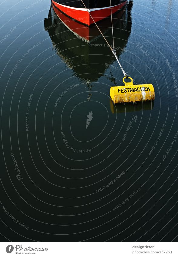 Calm Watercraft Wait Safety Working man Protection Harbour To hold on Hold Patient Endurance Anchor Drop anchor Buoy Fastener