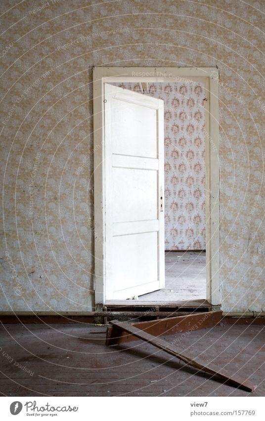 Beautiful Calm Loneliness Room Door Arrangement Level Wallpaper Derelict Entrance Living room Heater Transmission lines Heating Forget