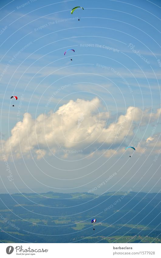 Human being Sky Nature Landscape Clouds Joy Far-off places Mountain Emotions Sports Group Flying Leisure and hobbies Air Earth Wind