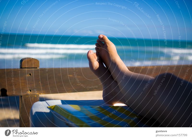 Relax Woman Ocean Summer Life Feet Hotel South America Human being Brazil Rio de Janeiro Resort Resting Recife