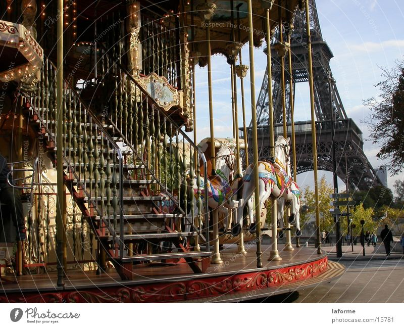 Paris Fairs & Carnivals Historic Eiffel Tower Merry-go-round
