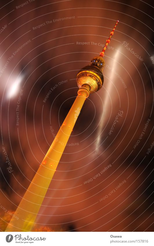Clouds Berlin Architecture Concrete Tower Manmade structures Diagonal Monument Landmark Alcoholic drinks Capital city Berlin TV Tower Antenna Television tower