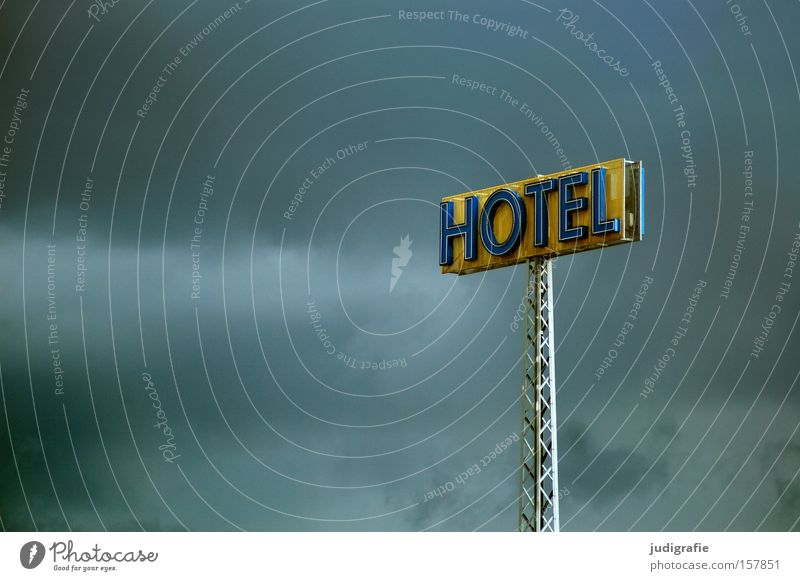 HOTEL Hotel Sky Signs and labeling Signage Advertising Neon sign Typography Word Letters (alphabet) Capital letter Detail Colour schönebeck