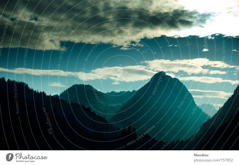 eternity Vacation & Travel Winter Mountain Nature Alps Old Blue Eternity Bavaria Austria Border area Sublime Impressive Seasons Austrian Alps German Alps Europe