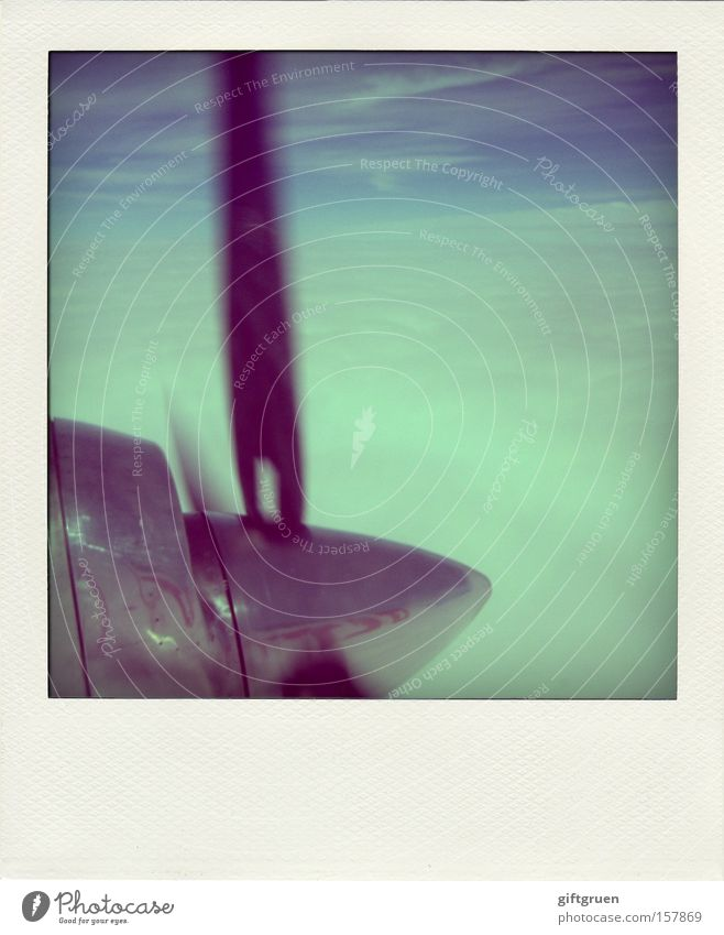 Sky Vacation & Travel Polaroid Clouds Airplane Flying Horizon Beginning Aviation Technology Logistics Rotate Airplane landing Pilot Rotation Passenger