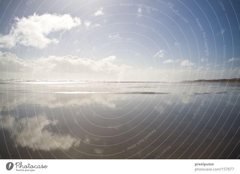 coastline Ocean Beach Clouds Water New Zealand Nature Reflection Far-off places Coast Sky