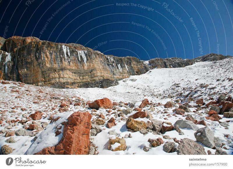 Nature Sky Blue Winter Loneliness Mountain Stone Hiking Weather Rock Tall Climbing Alps Italian Alps Martian landscape Dolomites
