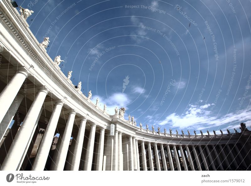throw columns before the popes Vacation & Travel Tourism Sightseeing City trip Sky Clouds Beautiful weather Rome Vatican Italy Town Capital city Downtown