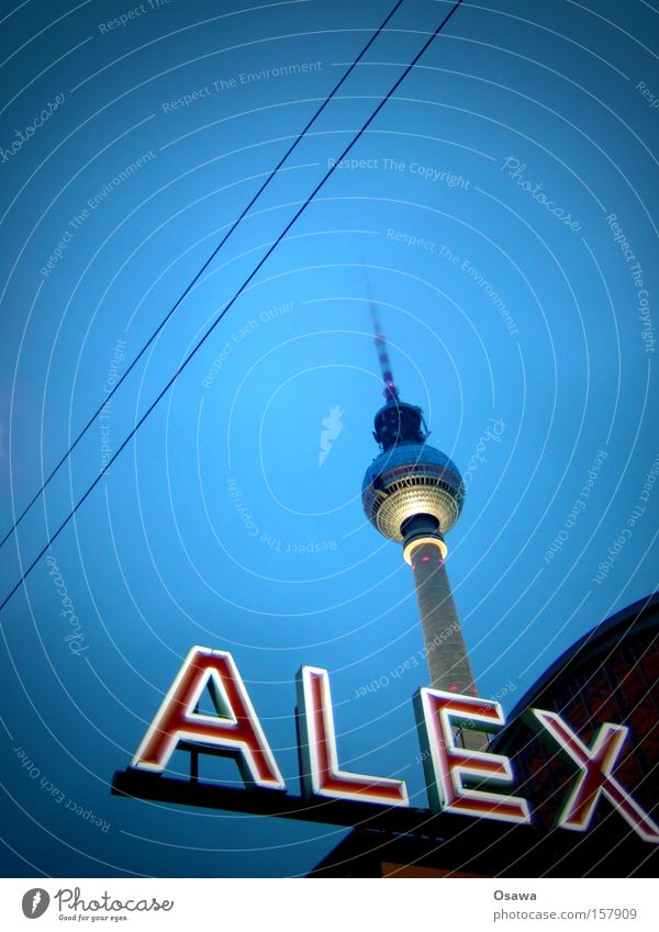 // Berlin Berlin TV Tower Television tower Alexanderplatz Architecture Sky Capital city Landmark Antenna Broadcasting tower Overhead line Building