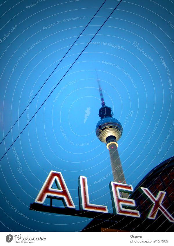 // Berlin Berlin TV Tower Television tower Alexanderplatz Architecture Sky Capital city Landmark Antenna Broadcasting tower Overhead line Building