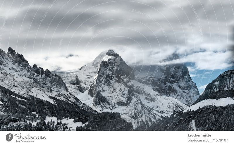 Sky Nature Blue Tree Landscape Clouds Winter Mountain Environment Gray Rock Hiking Hill Elements Peak Alps