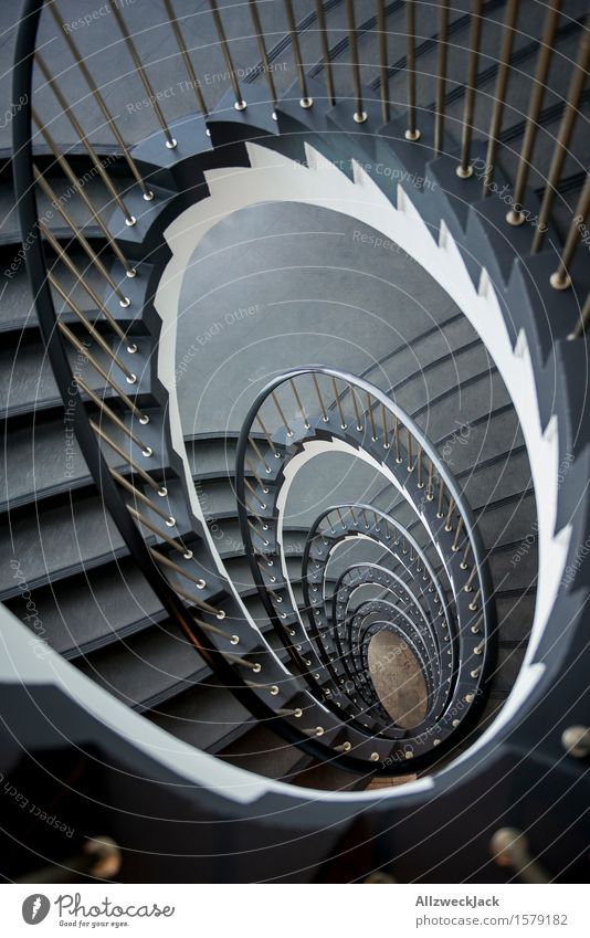 White Interior design Gray Stairs Elegant Esthetic Staircase (Hallway) Banister Spiral Symmetry Winding staircase