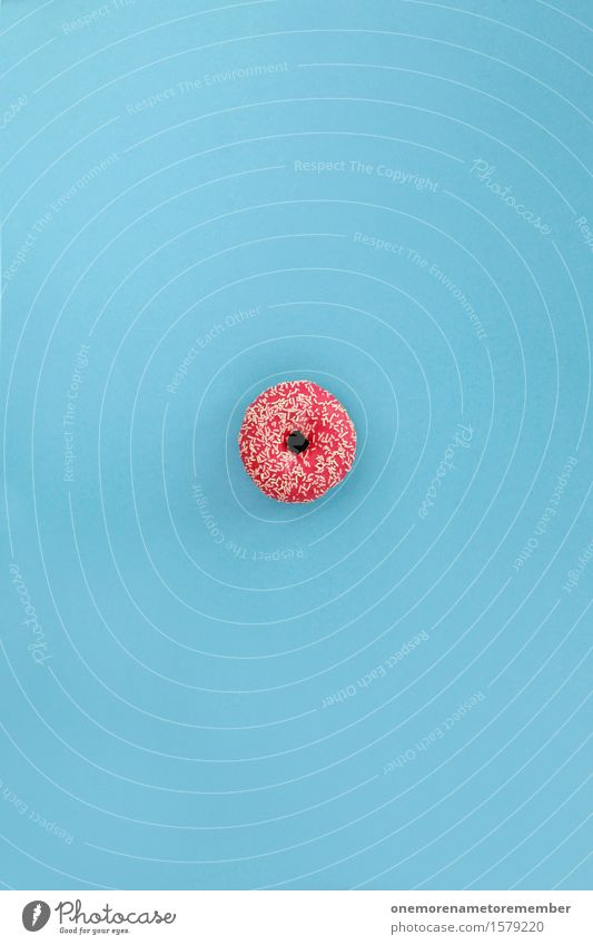 Blue Art Pink Esthetic Delicious Work of art Sugar Donut Unhealthy Calorie Icing Rich in calories Sugar refinery Coulored sugar candy