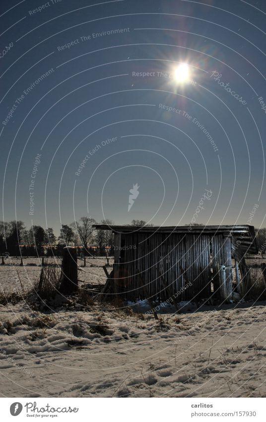 Winter Dark Snow Agriculture Radiation Snowscape Barn Full  moon Radioactivity