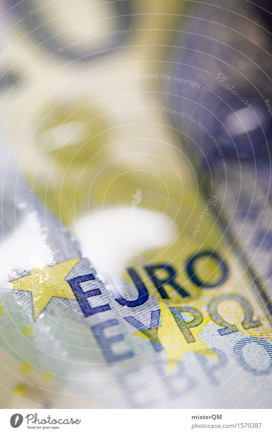 Aqueous Euro III Art Work of art Esthetic Euro symbol Euro bill Money Financial Industry Capitalism Capital investment Decline Stars Europe Wet Fluid