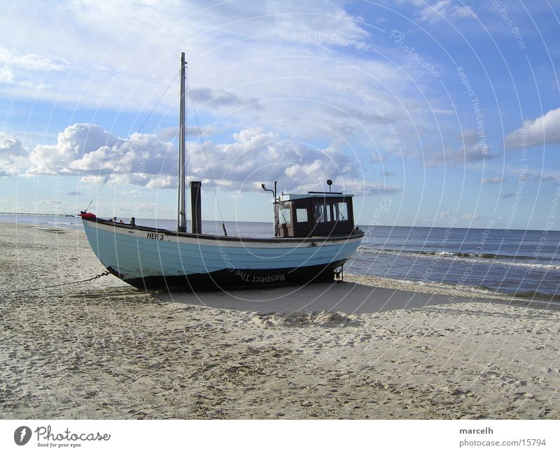 at the Baltic Sea v.3 Ocean Beach Fishing boat Fishery Watercraft Europe Sand
