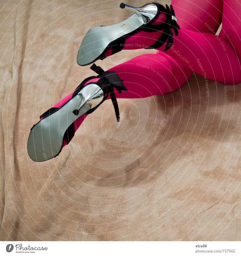 stylistic inconsistency Footwear High heels Tights Stockings Legs Woman Blanket Sandal Kneel Crawl